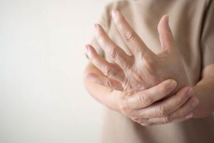 Hand cramping from alcoholic neuropathy