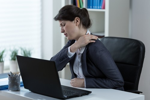 Woman experiencing chronic pain