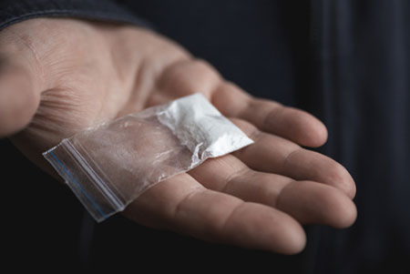 Fentanyl in a bag