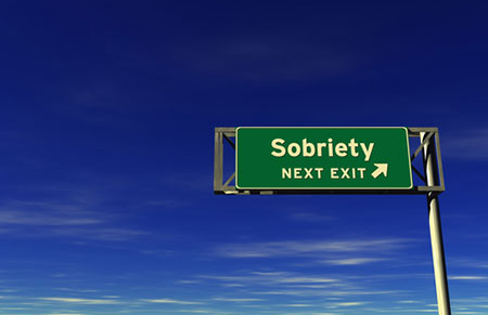 A sign pointing towards long-term sobriety from heroin